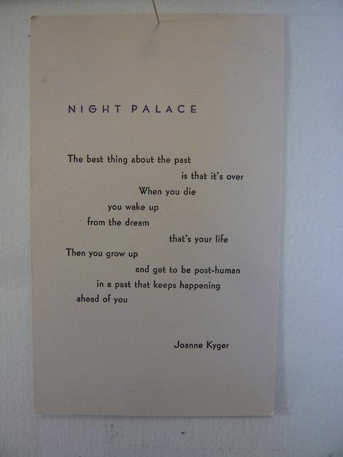 joanne kyger night palace