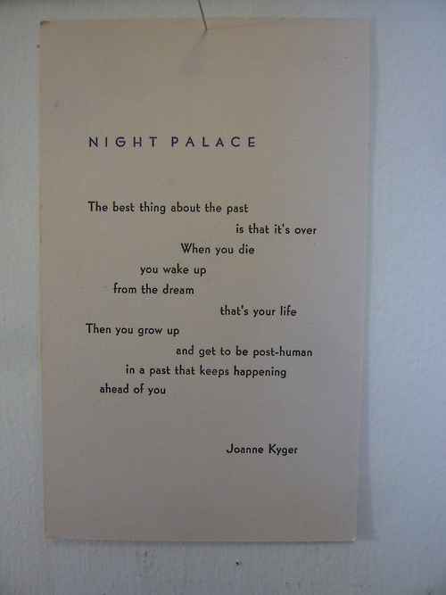 joanne kyger night palace