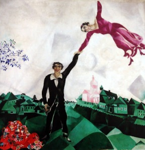chagall, art, surrealism, steampunk