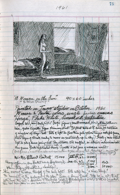 Edward Hopper sketch book